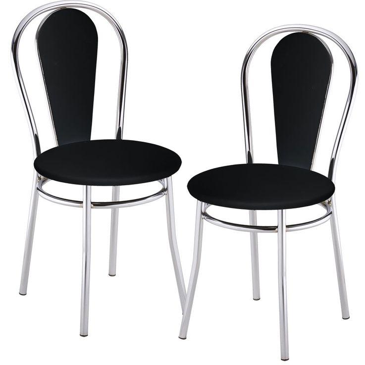 2 set comfort restaurant seating Bistro leatherette chairs black Nowy Styl 4L-CR-V 14N – Bild 1