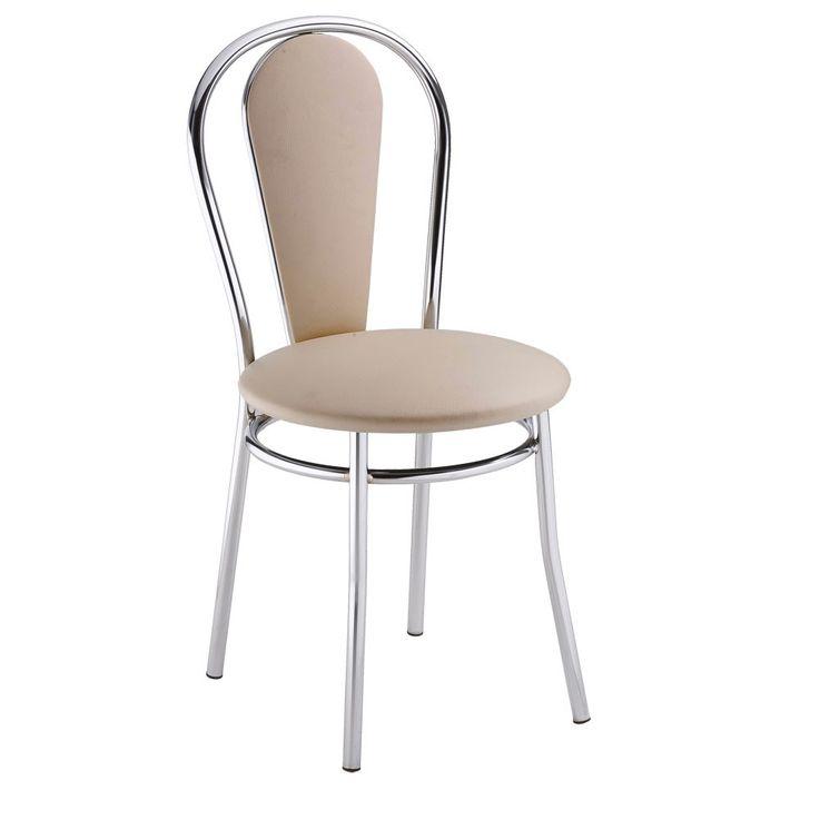 2 set comfort restaurant seating Bistro leatherette chairs beige Nowy Styl 4L-CR-V 18N – Bild 3