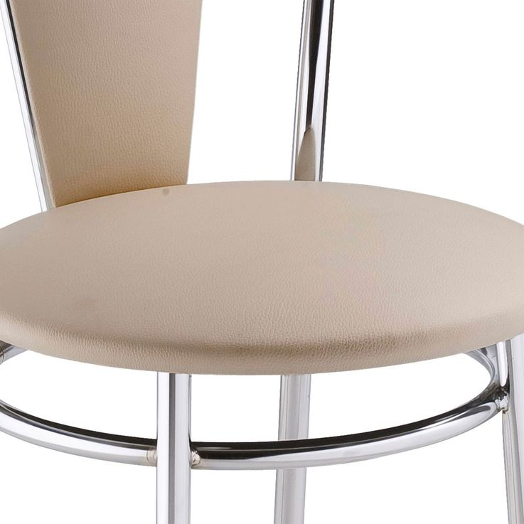 2 set comfort restaurant seating Bistro leatherette chairs beige Nowy Styl 4L-CR-V 18N – Bild 4
