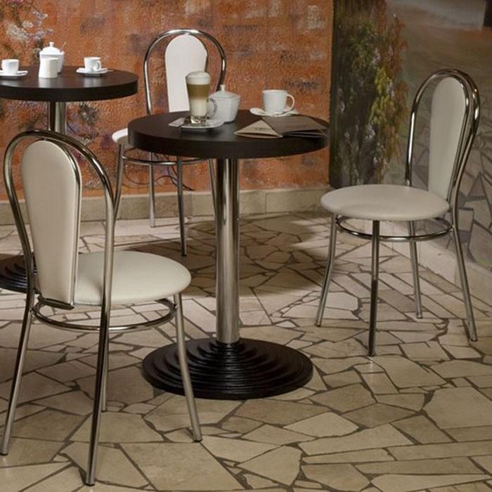 2er Set Komfort Restaurant Bestuhlung Bistro Kunstleder Stühle beige Nowy Styl 4L-CR-V 18N – Bild 2