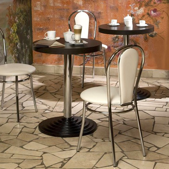 2 set comfort restaurant seating Bistro leatherette chairs Nowy Styl 4L-CR-V – Bild 2