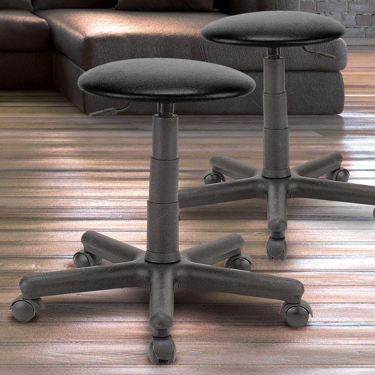 2 set industrial stool seat seating adjustable gas lift TS12 PST00S-BL – Bild 2