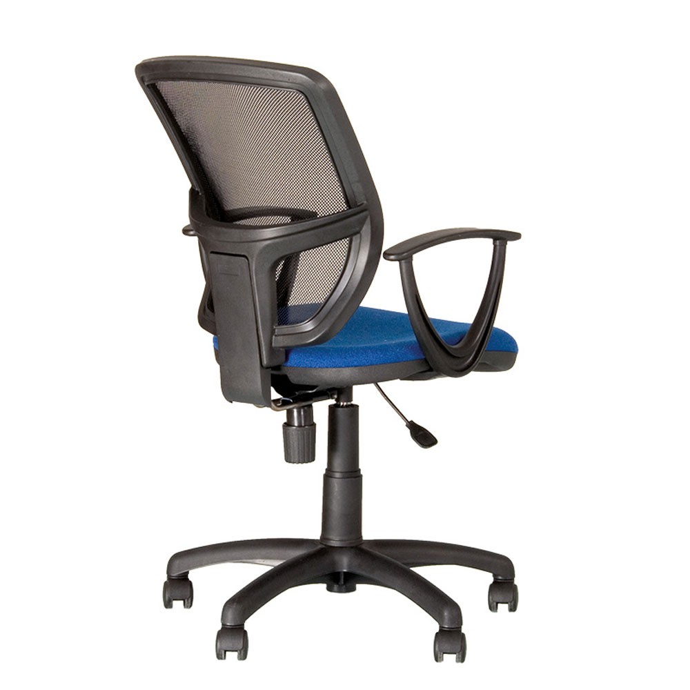 ergonomique tourne chaise bureau bureau chef fauteuil ascenseur de gaz bleu ebay. Black Bedroom Furniture Sets. Home Design Ideas