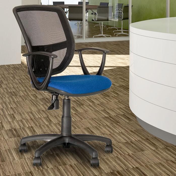 Ergonomischer Dreh Stuhl Büro Schreibtisch Chef Sessel Gaslift blau Nowy Styl GTP  – Bild 2