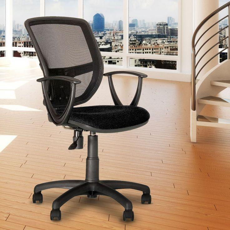 Ergonomic office swivel chair workplace chairs gas lift black Nowy Styl GTP – Bild 2