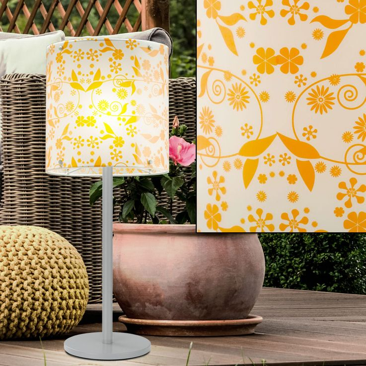 Elegant table lamp flowers pattern stand lamp lighting – Bild 3
