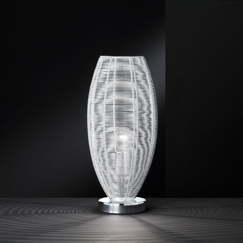 7 watt led nacht tisch leuchte beistell lampe geflecht. Black Bedroom Furniture Sets. Home Design Ideas