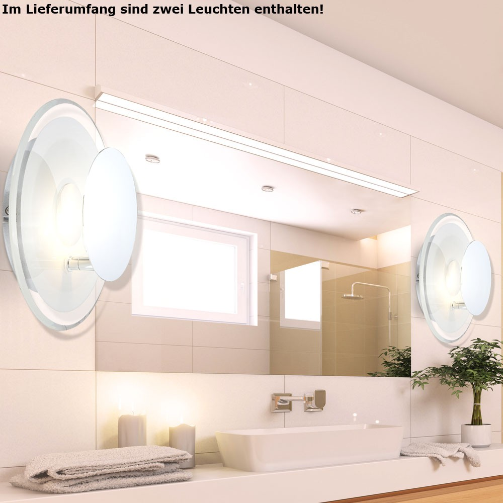 2er set design led wandlampe badezimmer wohnzimmer dxh for Badezimmer set design