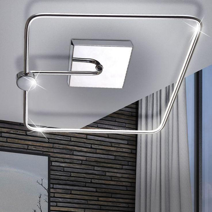 13,2 Watt LED Wand Leuchte Chrom Decken Lampe Haus Flur Beleuchtung Esto 740100 – Bild 2