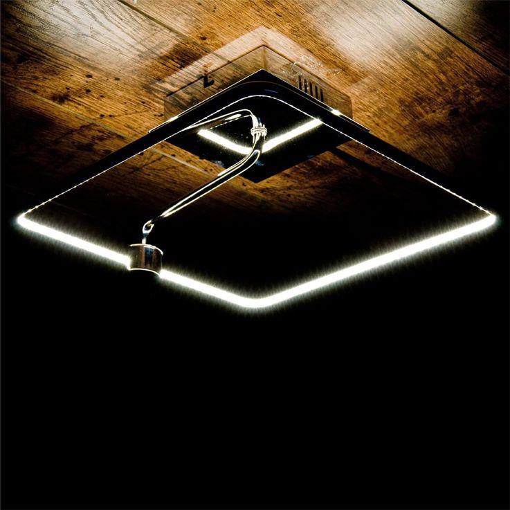 Elegant LED Wand and ceiling light in chrome – Bild 3