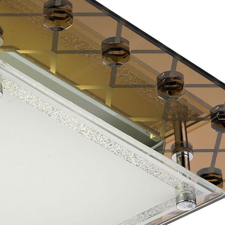 LED Deckenlampe aus Metall, Kupfer und Glas  – Bild 3