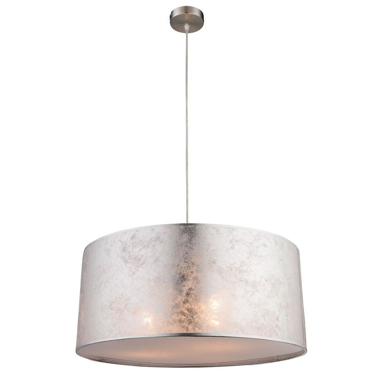 Luxury hanging lamp fabric pendant lamp silver ceiling lighting Globo 15188 H 1 – Bild 1