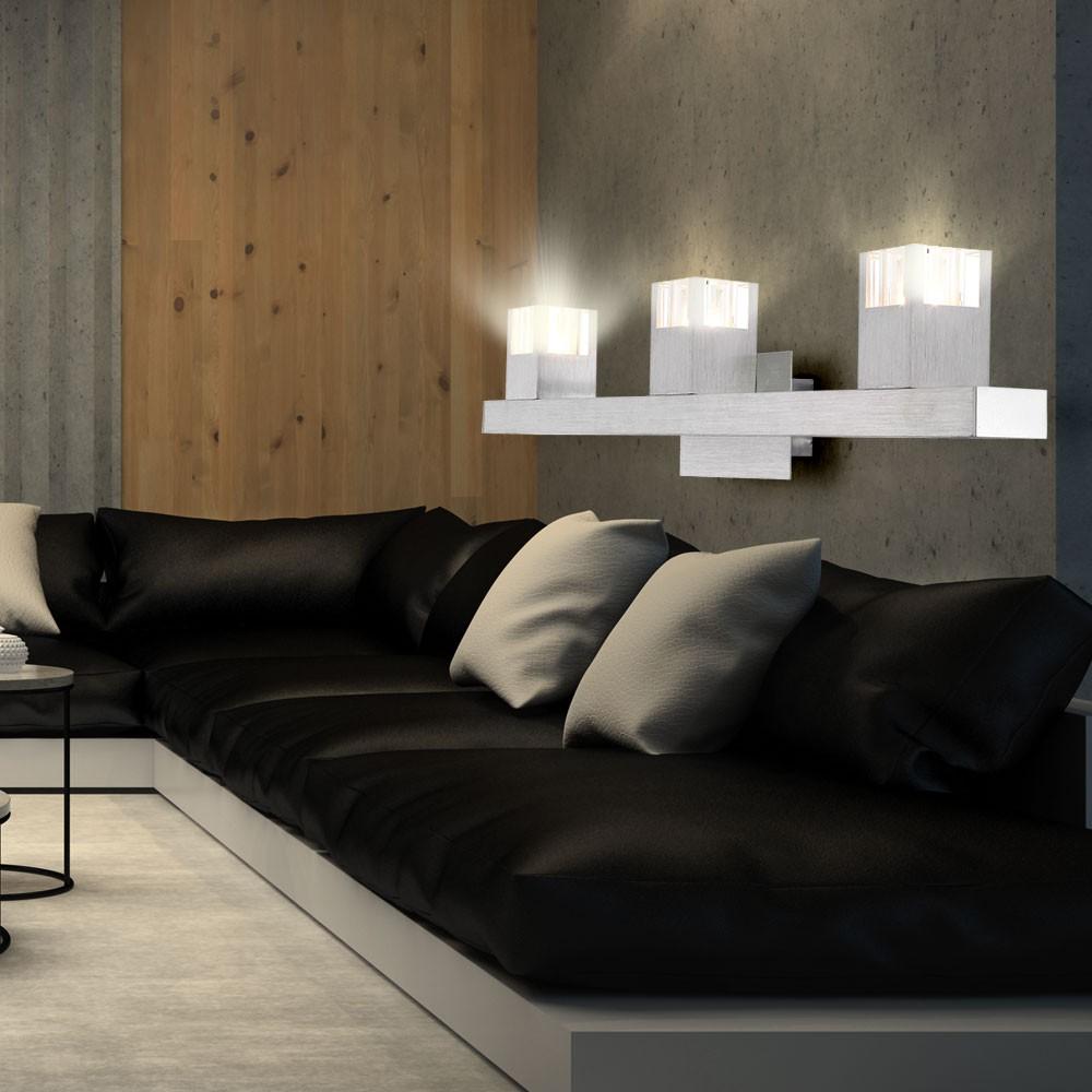 wand lampe led design innen beleuchtung alu wohnraum leuchte l nglich b ro flur ebay. Black Bedroom Furniture Sets. Home Design Ideas
