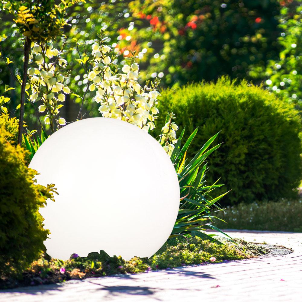 Set of 3 led solar lights balls pond deco garden lightings - Led solar jardin ...