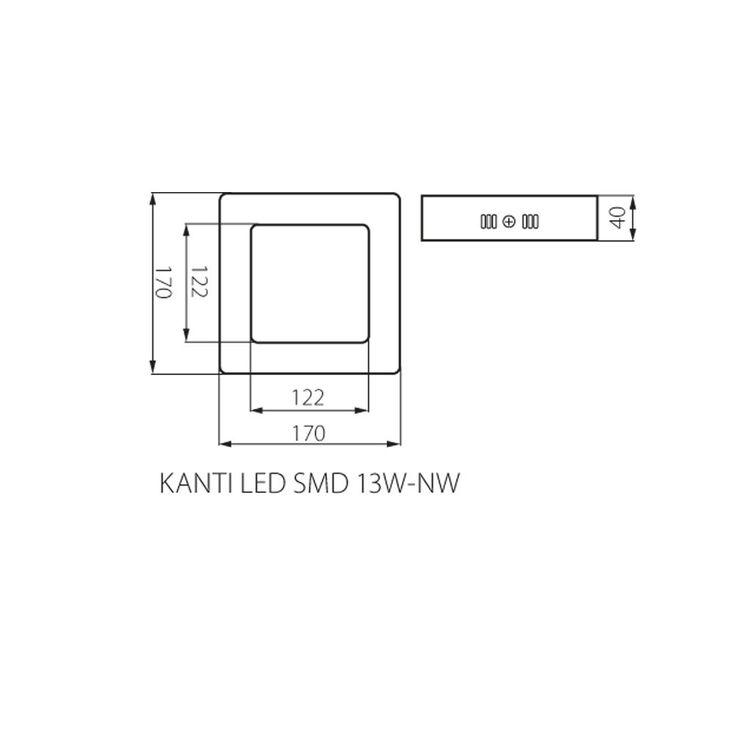 13 Watt LED Decken Leuchte Haus Flur Beleuchtung eckig Alu Lampe Kanlux 22272 – Bild 4