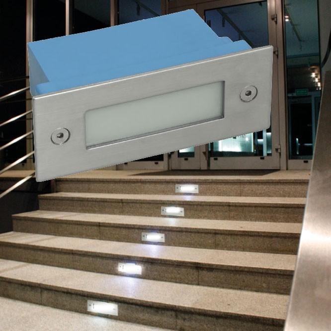 LED Wand Einbau Leuchte Außen Beleuchtung Tritt Stufen Treppen Lampe Kanlux 4391 – Bild 2