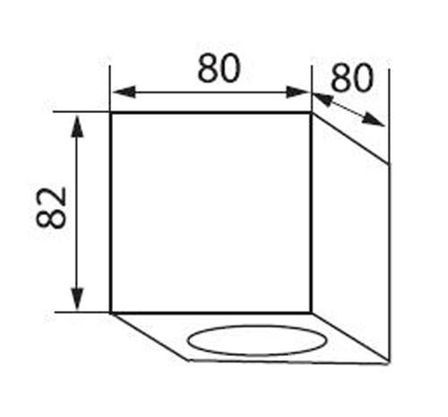 Decken Lampe silber GU10 Sockel Schlafzimmer Loft Beleuchtung 1-flg eckig Kanlux 19950 – Bild 7