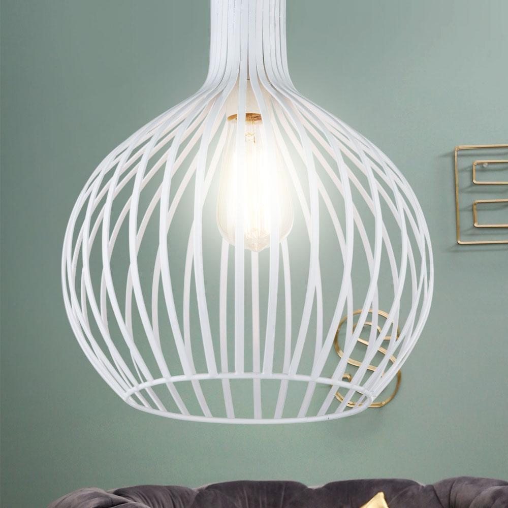 Suspension Lustre Luminaire Blanc Eclairage Plafond Salle A Manger Chambre E27