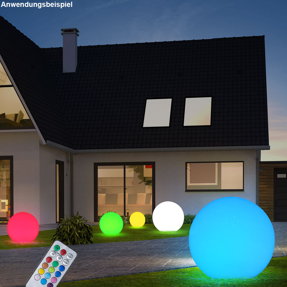 Lampe solaire del rvb jardin changeur couleurs boule for Luminaire jardin led