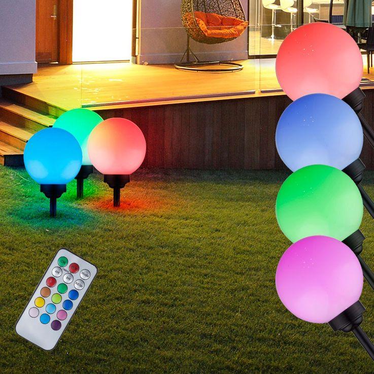 RGB LED garden push light color changing ball lamp outdoor lighting Globo 31793 – Bild 3