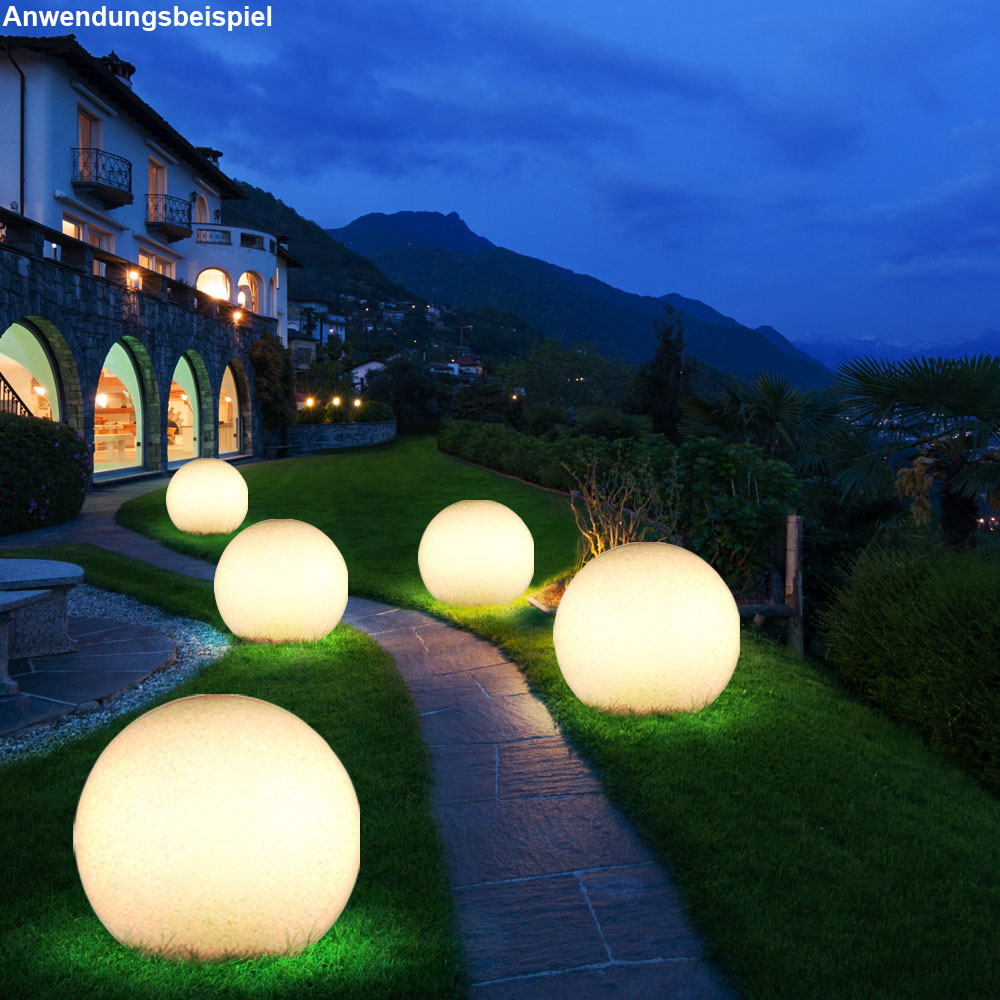 boule lumineuse luminaire ext rieur pierre v randa jardin clairage d coration ebay. Black Bedroom Furniture Sets. Home Design Ideas