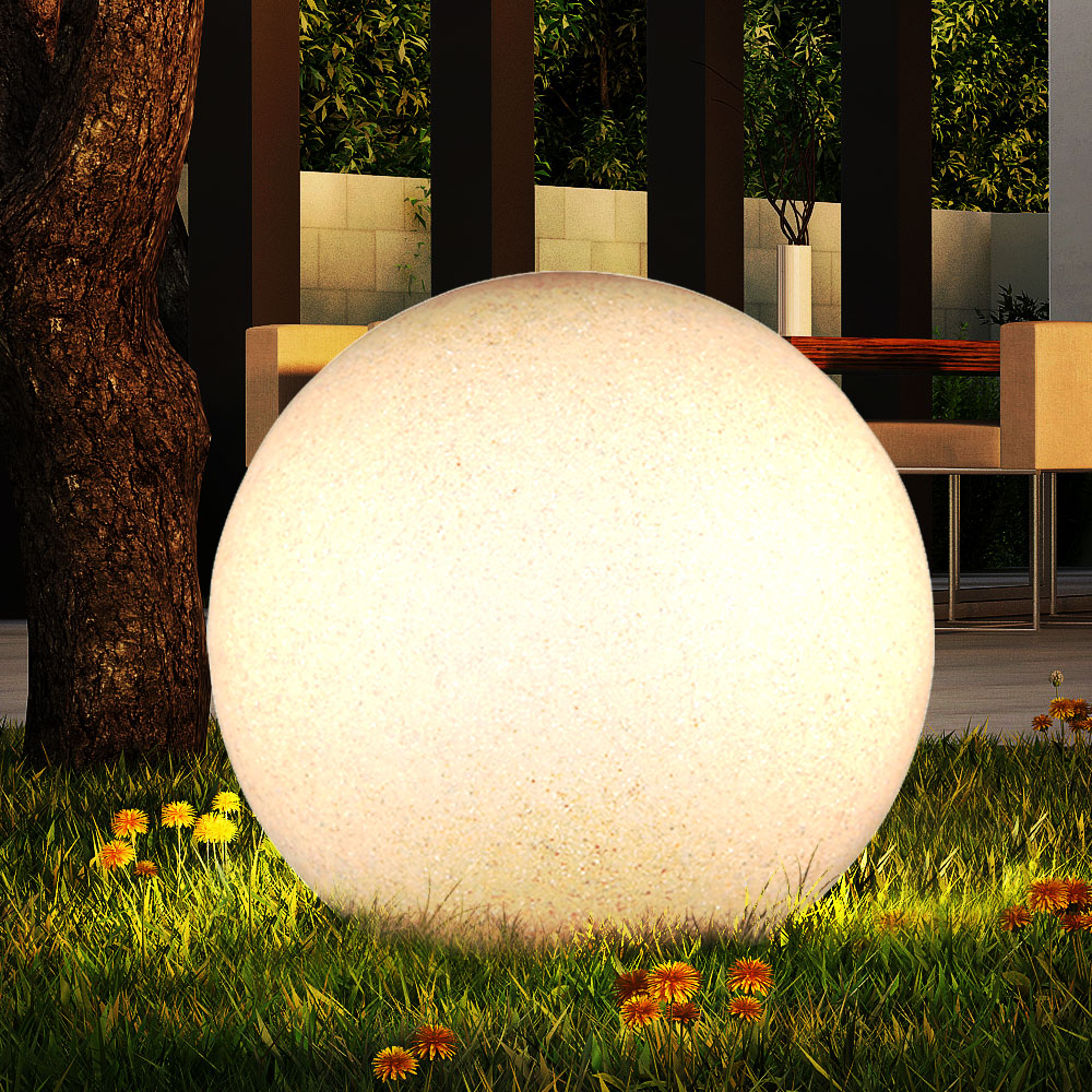 Véranda De Jardin Extérieur boule lumineuse luminaire extérieur pierre véranda jardin éclairage  décoration