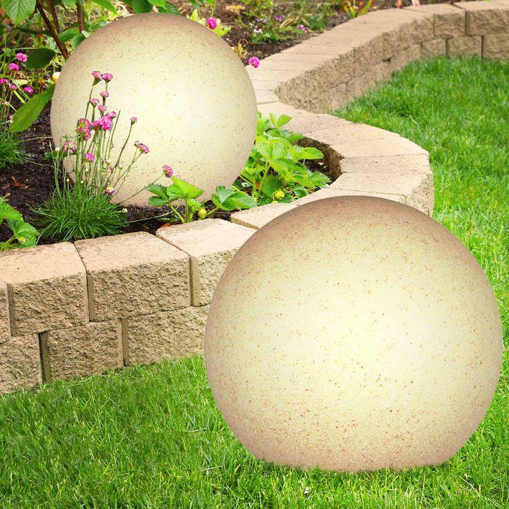 Boule lumineuse luminaire extérieur pierre véranda jardin éclairage décoration – Bild 13
