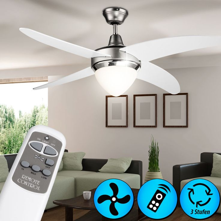High-quality ceiling fan room of fan lighting remote control Globo 03060 – Bild 4