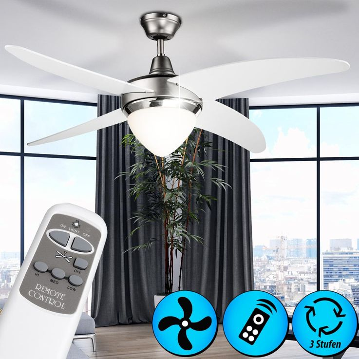 High-quality ceiling fan room of fan lighting remote control Globo 03060 – Bild 2