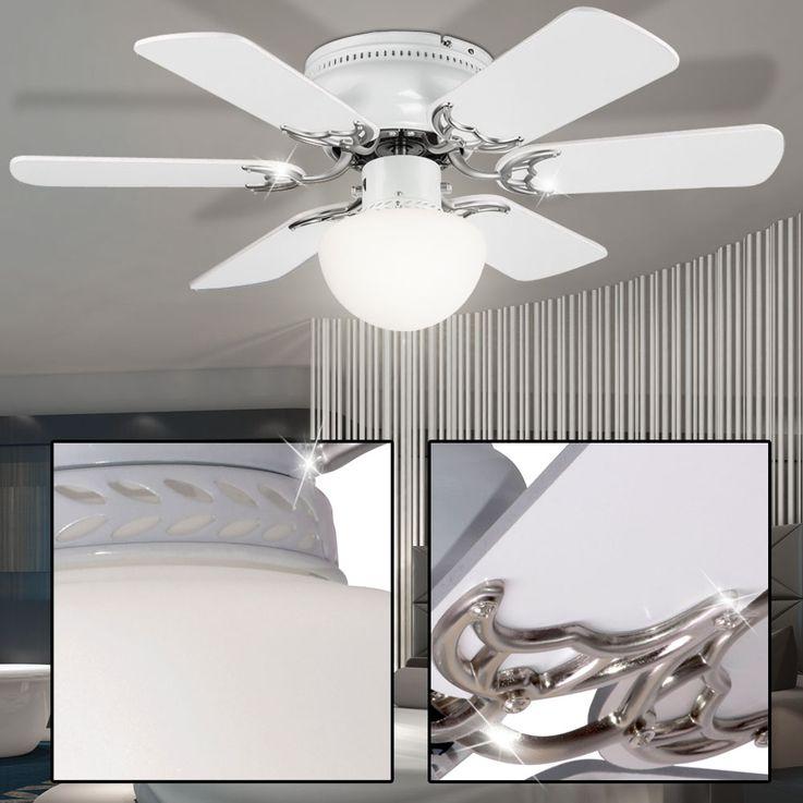 Cover fan room cooler fan lighting glass lamp cord switch Globo 03070 – Bild 4