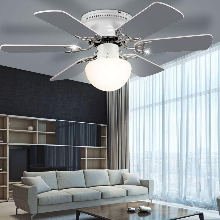 Cover fan room cooler fan lighting glass lamp cord switch Globo 03070 – Bild 6
