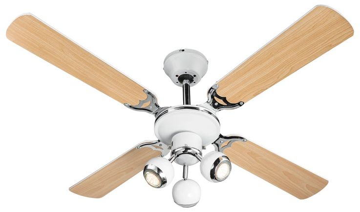 LED Retro ceiling fan housing fan lamp cooler moving spots Globo 03351 – Bild 1