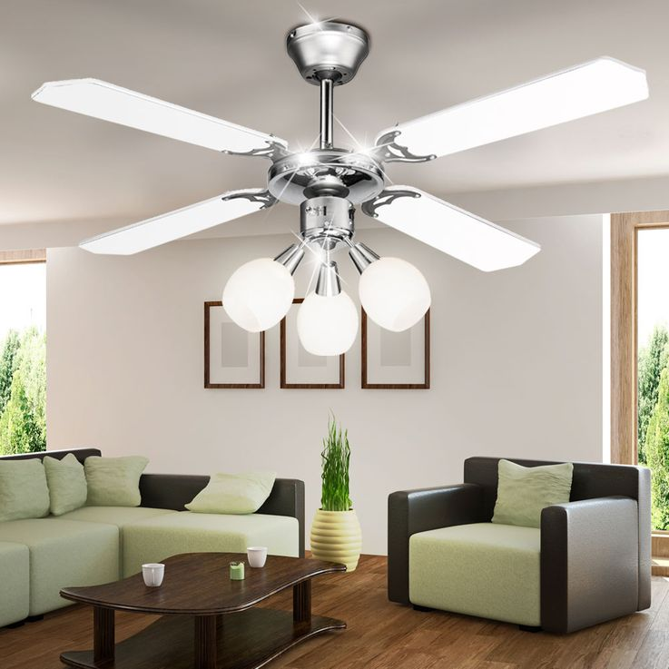 Elegant ceiling fan housing lamp cooling fan light Globo 03350 – Bild 5