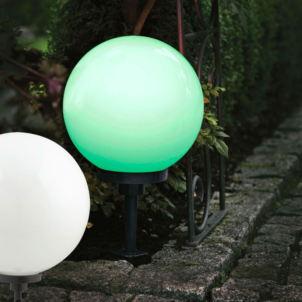 borne piquer boule multicolor luminaire ext rieur clairage jardin terrasse ebay. Black Bedroom Furniture Sets. Home Design Ideas