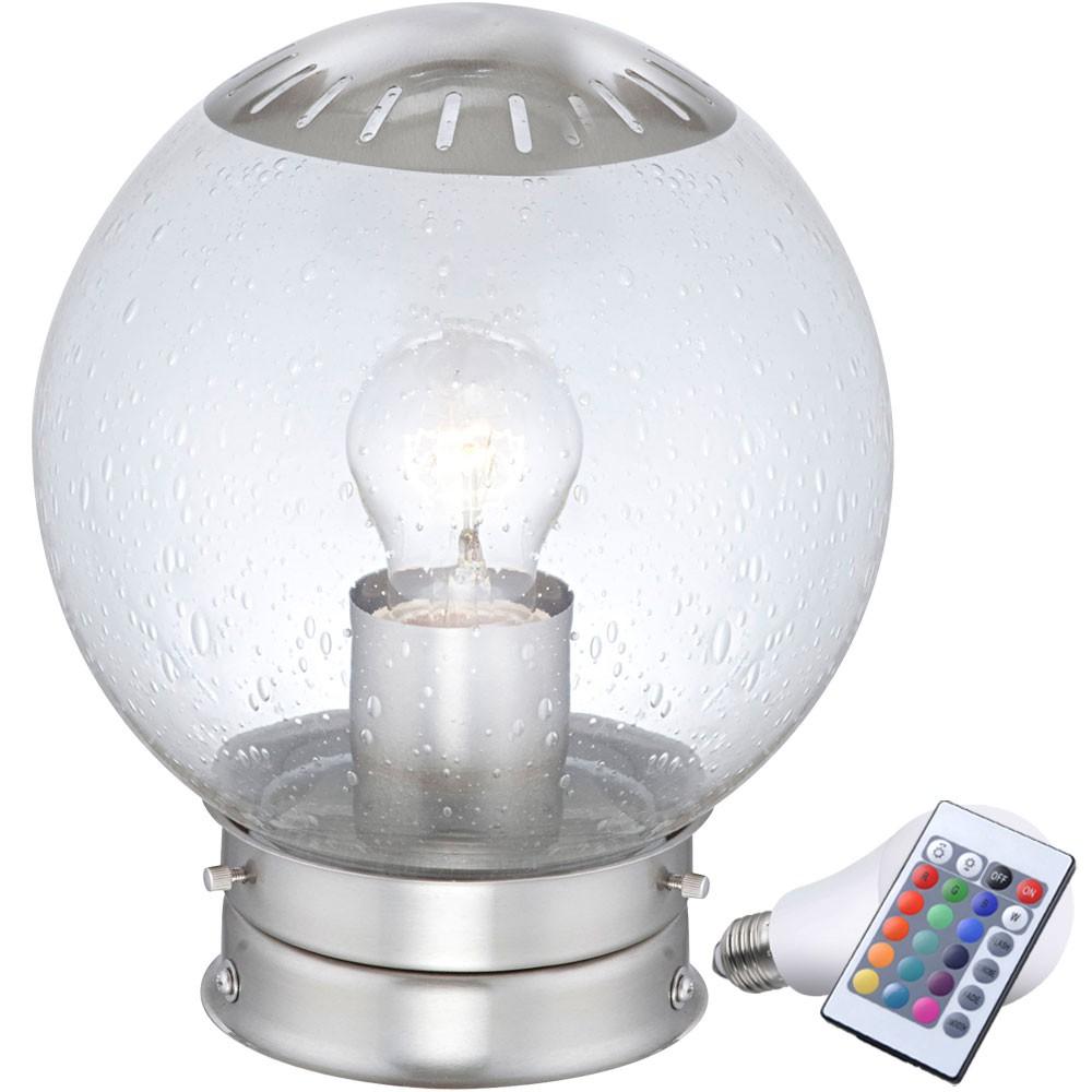 7 watt rgb led garten steh lampe farbwechsel sockel leuchte kugel beleuchtung ebay. Black Bedroom Furniture Sets. Home Design Ideas