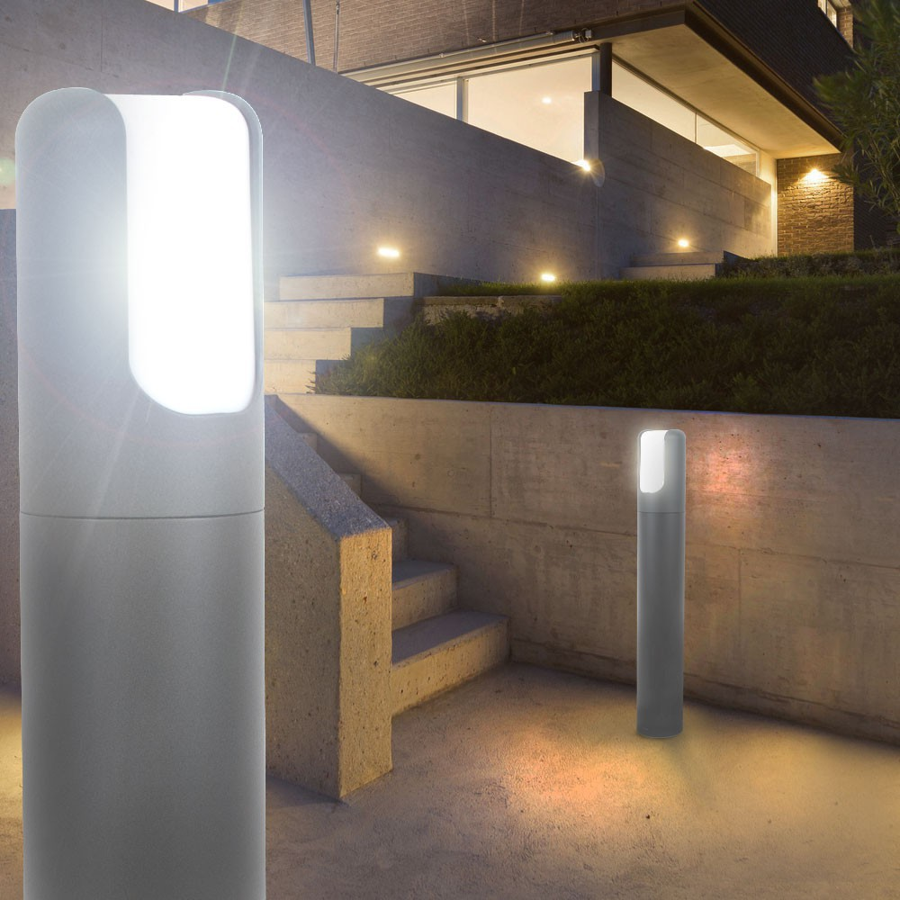 led 7 watt au en beleuchtung balkon terassen steh leuchte. Black Bedroom Furniture Sets. Home Design Ideas