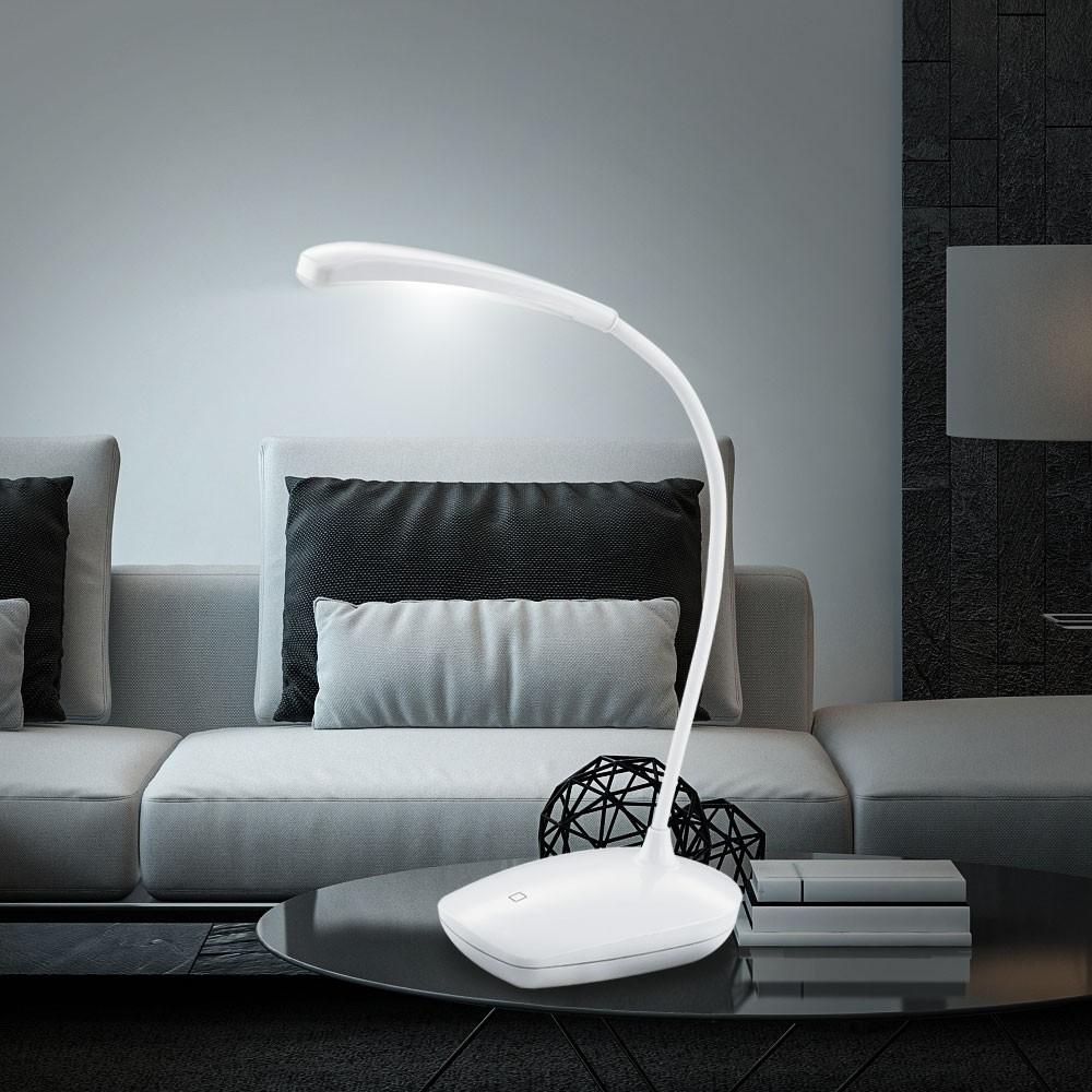 LED Tischleuchte mit Touchdimmer und USB Kabel Lampen & Möbel Räume ...
