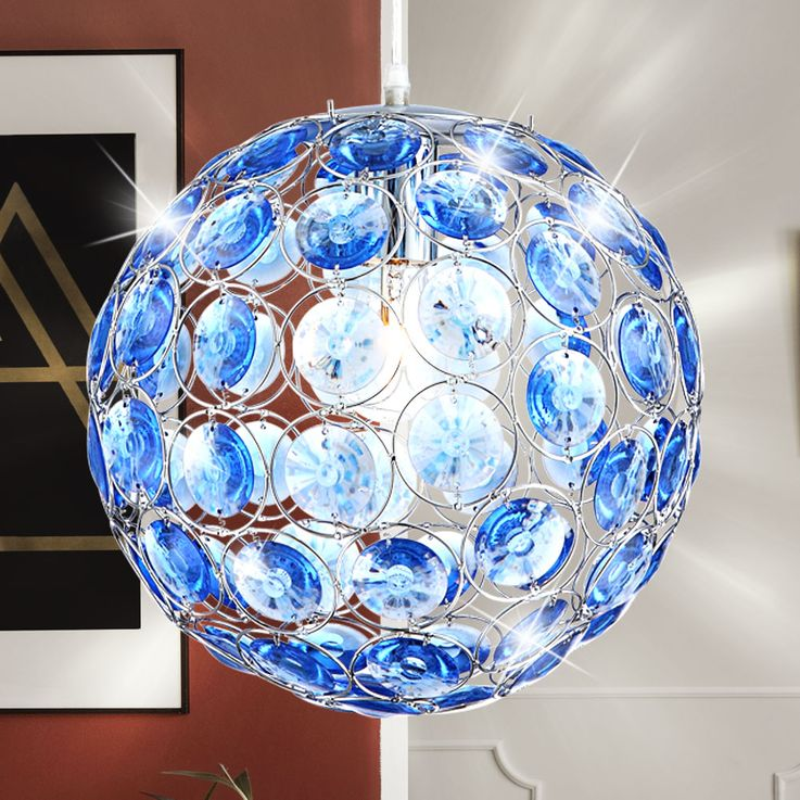 LED pendant with ocean blue acrylic crystals – Bild 3