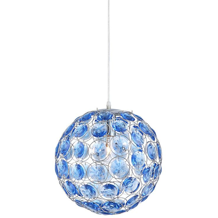 LED pendant with ocean blue acrylic crystals – Bild 7
