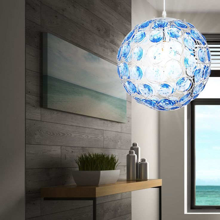 LED pendant with ocean blue acrylic crystals – Bild 6