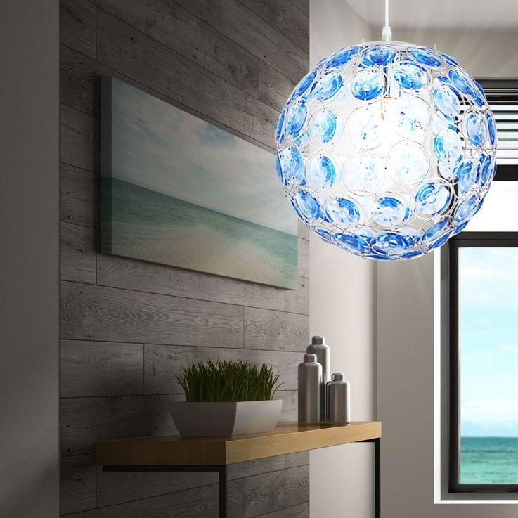Pendentif LED avec cristaux acrylique bleu océan – Bild 6