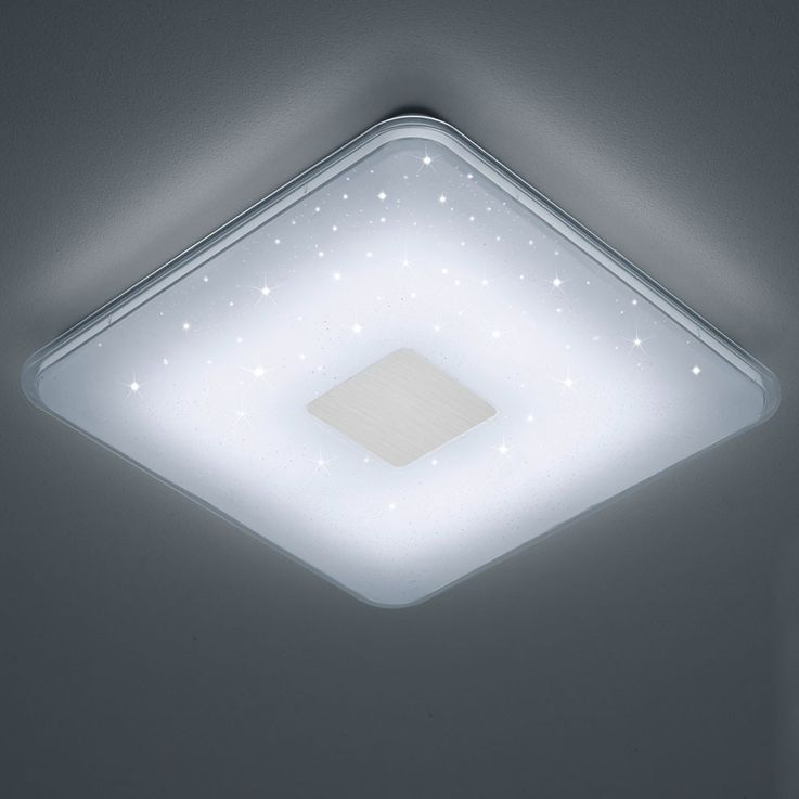 30 watt LED ceiling lamp dimmer housing stars light switchable square EEK A TRIO 628613001 – Bild 5