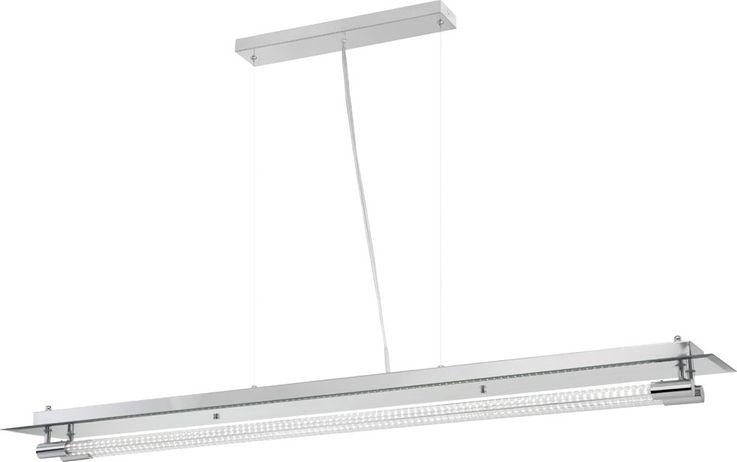 Elegante LED Hängeleuchte aus Chrom und Glas YASEI – Bild 1