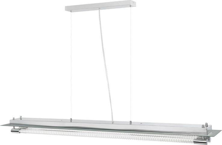 Elegante LED Hängeleuchte aus Chrom und Glas YASEI – Bild 7