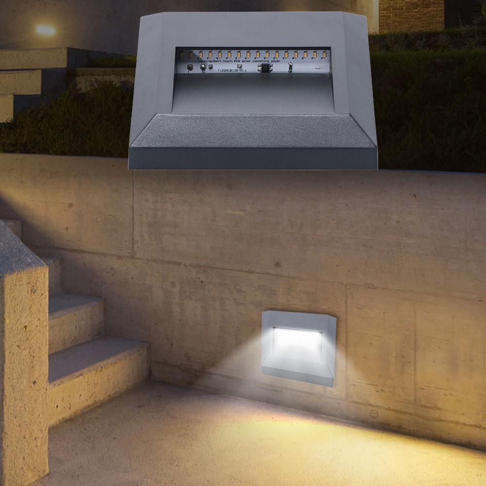 2er set led wand lampe au en treppe garten veranda. Black Bedroom Furniture Sets. Home Design Ideas