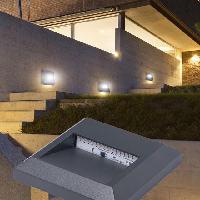 Robuste Lampe Led Luminaire Mural Éclairage X Balcon Jardin Terrasse 2 Applique reCxBod