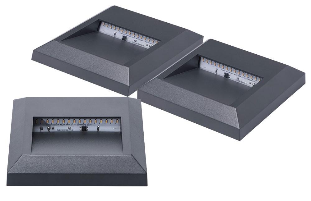 LED 3er Set Wandleuchten Für Den Außenbereich U2013 Bild 1