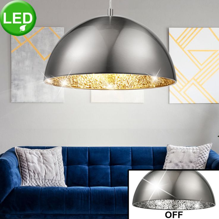 Elegant LED pendant with silver mosaic – Bild 2
