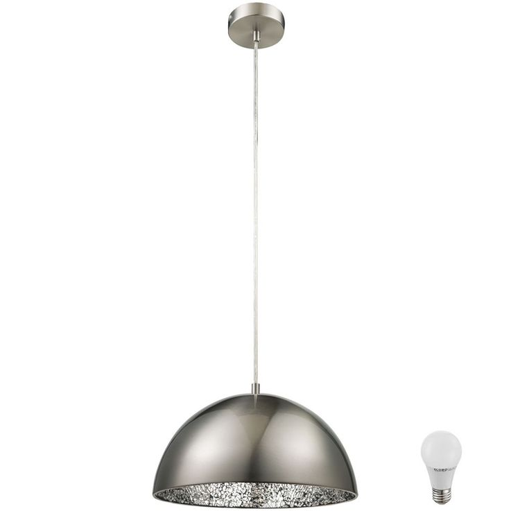 Elegant LED pendant with silver mosaic – Bild 1