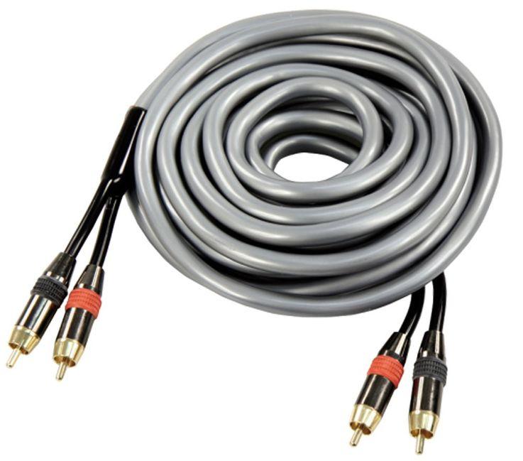 "HighEnd-Cinchkabel Hi-Fi Audio Sound McFun ""XQ-500"" 5,0 m lang vergoldete Metallstecker – Bild 1"
